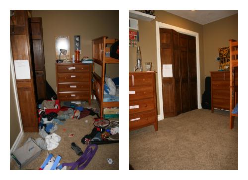 nettoyer sa maison rapidement passe par le rangement de la chambre