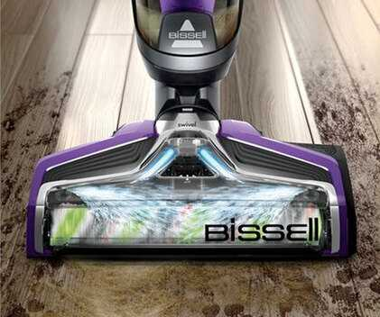 Bissell CrossWave Pet Pro buse en action et LED