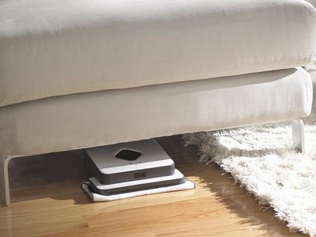 iRobot-Braava-320-passage sous un meuble