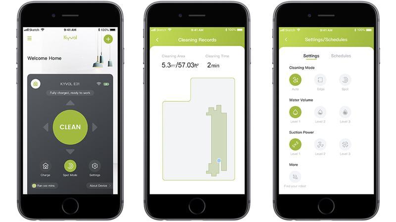 application mobile Du Kyvol Cybovac E31